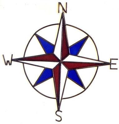 Columbus Short Columbus compass rose ...