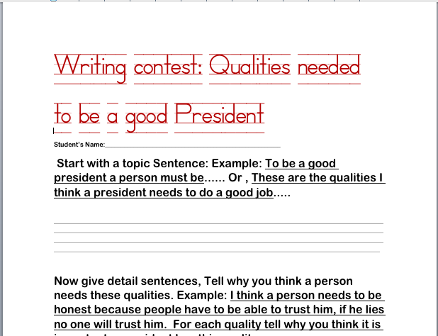 presidential qualities essay