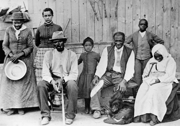 Harriet Tubman with members of her family she helped escape