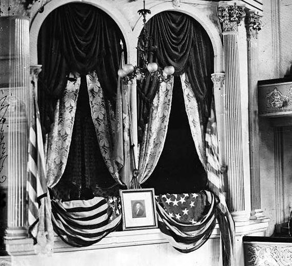 Theatre box(balcony) Lincoln sat in at the Ford Theatre