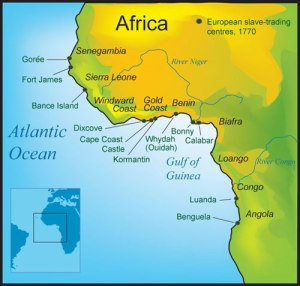 Slave Forts along West African Coast