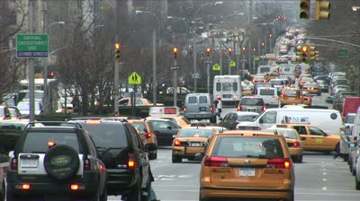 stock-footage-new-york-ny-circa-march-a-view-of-traffic-on-manhattan-s-park-avenue-can-be-seen-for-miles